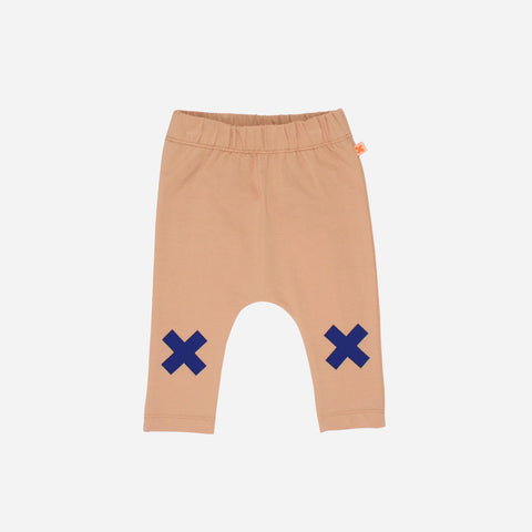 Pima Cotton Logo Pants - Nude - 3m-8y