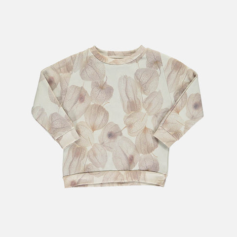 Organic Cotton Loose Sweatshirt - Flower - 1-8y