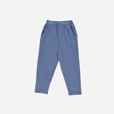 Organic Cotton Jersey Lorenzo Pants - Denim - 3-10y