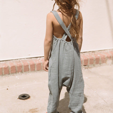 Cotton Luna Overall - Grey - 6y