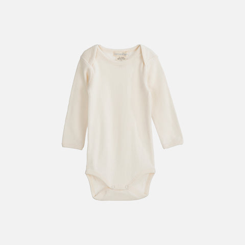 Organic Cotton Baby Body Pointelle - Ecru - 0m-2y