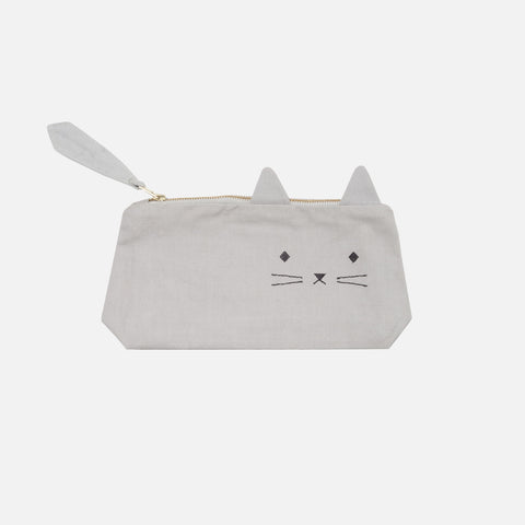 Organic Cotton Pencil Case - Cuddly Cat