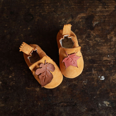 Eco Leather BluBlu Shoe/Slipper - Amber Leaf - 6-27m