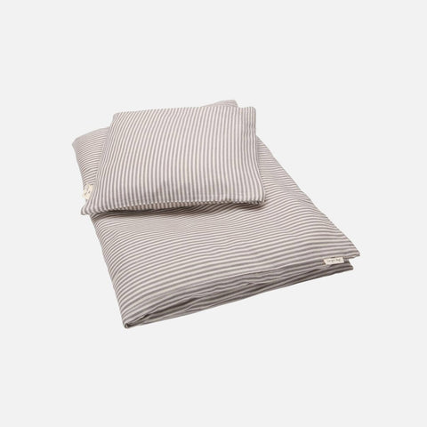 Muslin Duvet & Cushion Cover - Striped - Junior Size