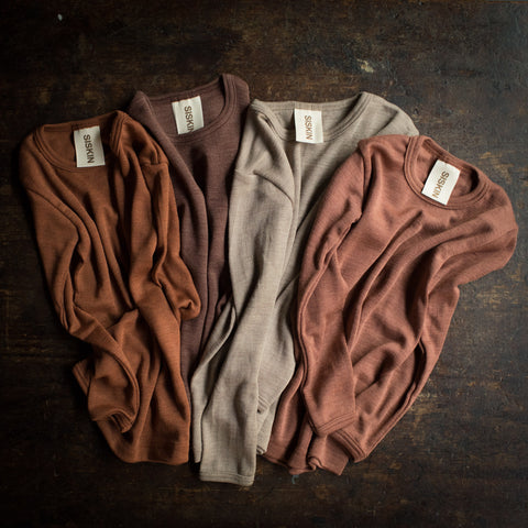 Exclusive Organic Silk & Merino Kids Leggings - Dune