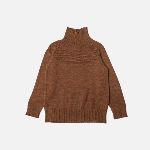 Baby Alpaca / Merino Sailor Sweater - Ginger