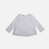 Cotton Peter Pan Shirt - White