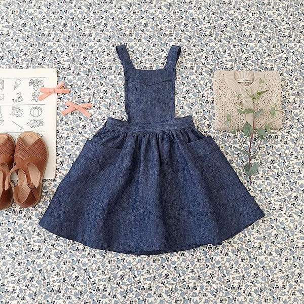 Linen Harriet Pinafore - Chambray