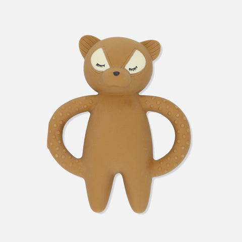 Teeth Soother Raccoon - Caramel Brown