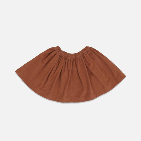Cotton Corduroy Siri Skirt - Toffee