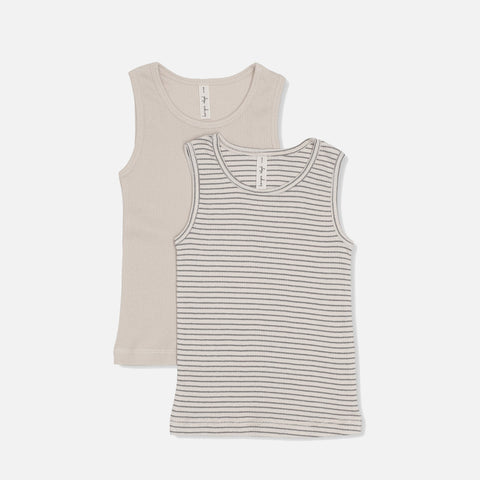 Organic Cotton Saya Two Pack Tank - Beige/Sedona Sage