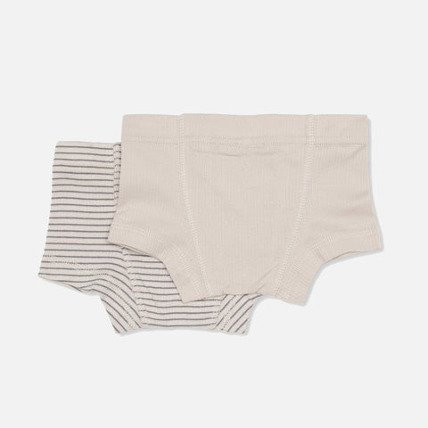 Organic Cotton Two Pack Saya Boxers - Beige/Sedona Sage