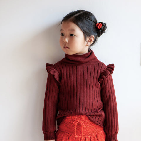 Cotton Ida Turtleneck - Brick
