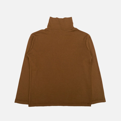 100% Organic Cotton Jersey Almond Top - Walnut