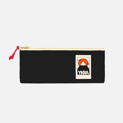 Cotton Canvas Pencil Case - Black
