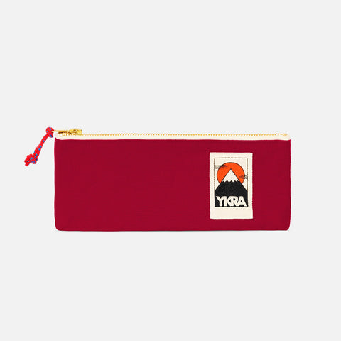 Cotton Canvas Pencil Case - Bordeaux
