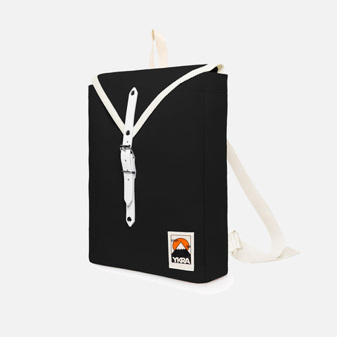 Cotton Canvas Scout Backpack - Black