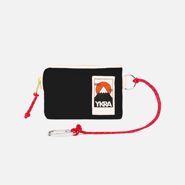 Cotton Canvas Mini Wallet - Black