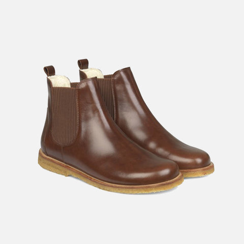 Women's Wool Lined Chelsea Boots - Chestnut