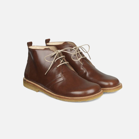 Women's Desert Boots With Laces - Conker
