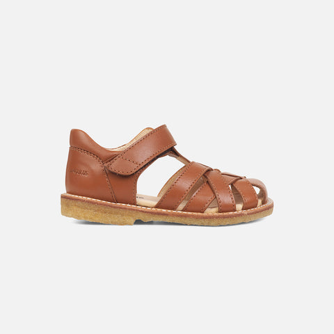 Kids Cross Strap Sandal - Cognac
