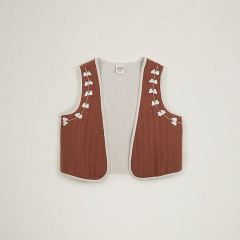 Cotton Bo Gilet - Nut