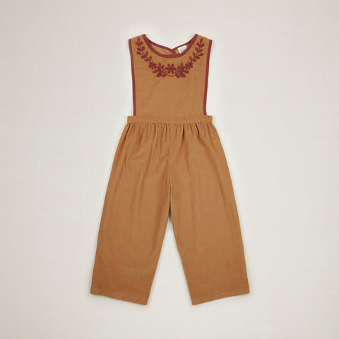 Cotton Cord Bobbie Dungaree Culotte - Golden