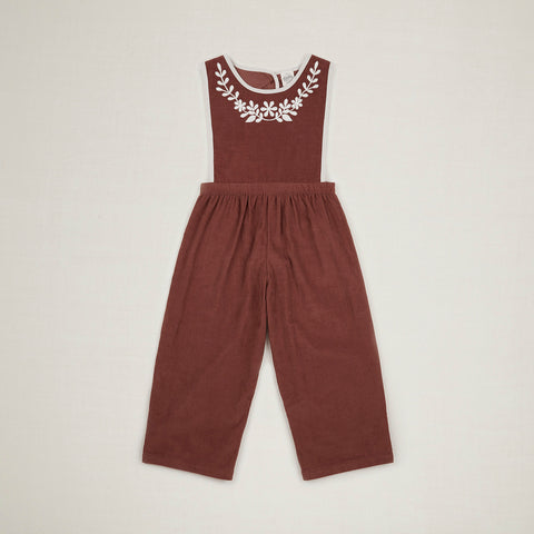 Cotton Cord Bobbie Dungaree Culotte - Nut