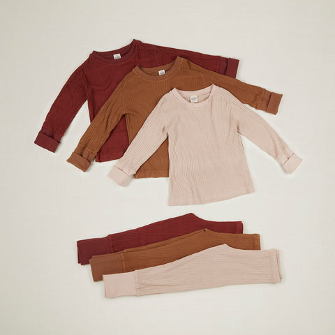 Exclusive Cotton Jersey Layer Set - Rust