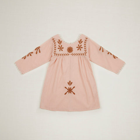 Cotton Penelope Dress - Carnation