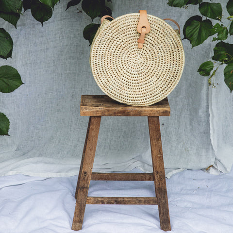 Doroteia Round Bag - Natural Straw