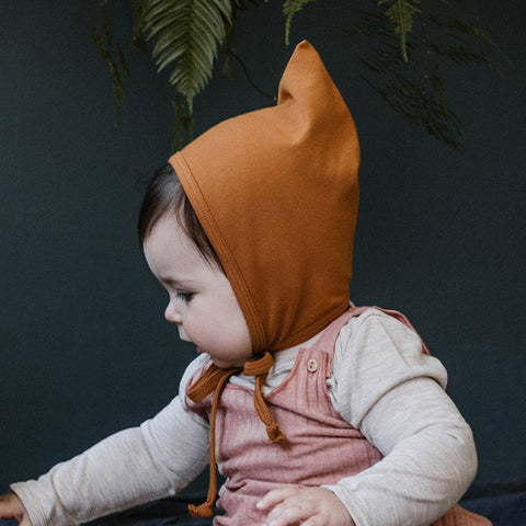 Cotton Bébé Acorn Bandit Bonnet