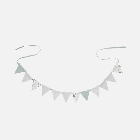 Organic Cotton Bunting - Green Mix