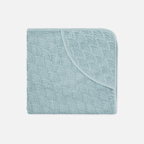 Organic Cotton Hooded Baby Towel - Petrol