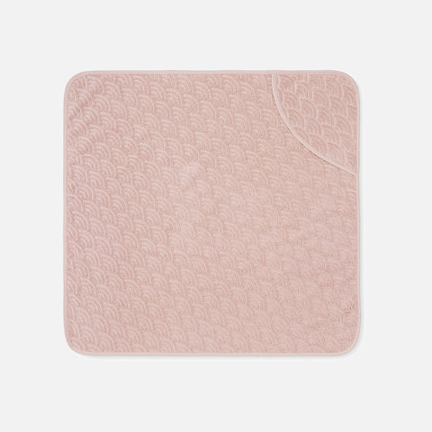 Organic Cotton Hooded Baby Towel - Blossom Pink