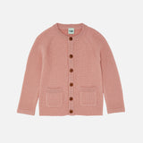 Merino Wool Chunky Rib Jacket - Blush