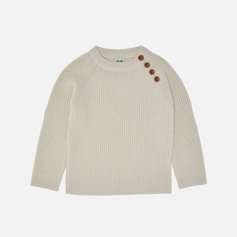 Chunky Merino Wool Sweater - Ecru