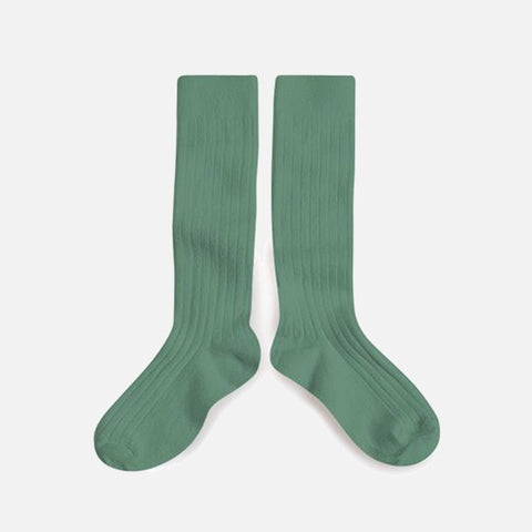 Babies & Kids Cotton Knee Socks - Celadon