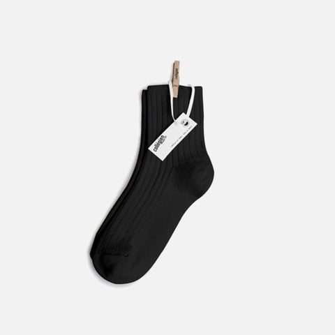 Adult Cotton Short Socks - Coal