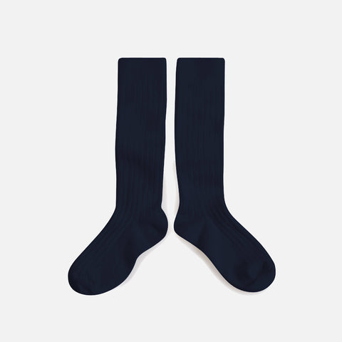Babies & Kids Cotton Knee Socks - Navy