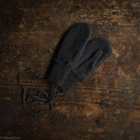 Boiled Merino Wool Gloves - Anthracite