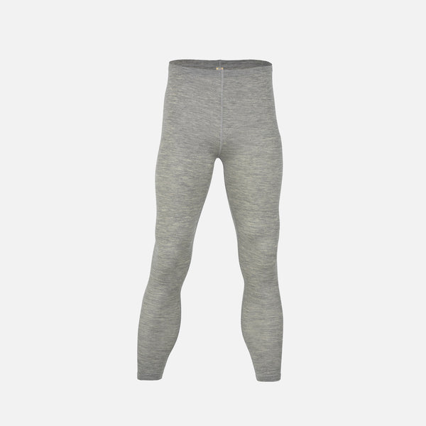 Organic Silk & Merino Wool Men's Long Johns Black, Grey & Walnut.