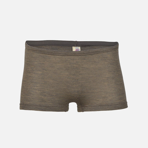 Women's Wool/Silk Boxer Shorts - Walnut