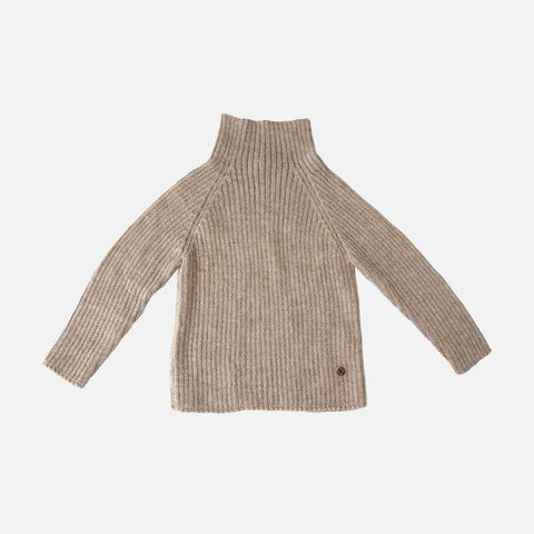 Alpaca Rib Sweater - Pebble