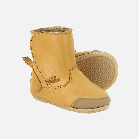 Eco Leather Icho Booties - Natural