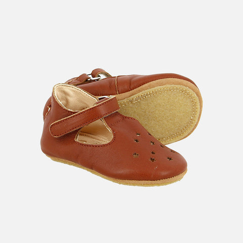 Eco Leather Little Shoes Lily - Chataigne