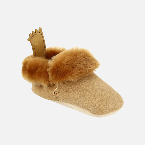 Eco Leather Slippers Minion - Tan