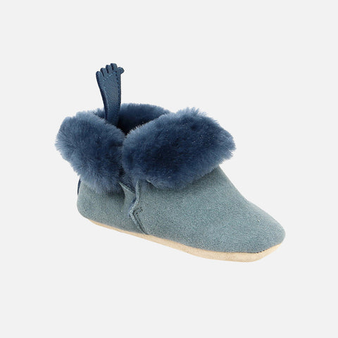 Eco Leather Slippers Minion - Blue Grey