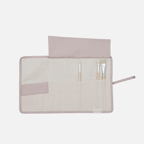 Organic Cotton Roll Up Pencil Case - Bunny