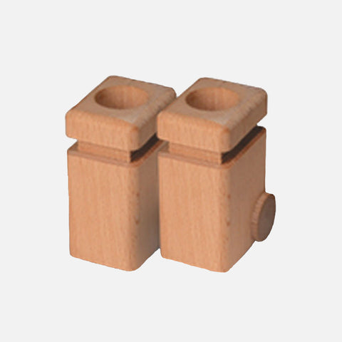 Wooden Garbage Cans for Garbage Truck - Set of 2